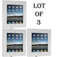 Lot Of 3 Security Anti-theft Ipad Wall Mount,lock & Key Public Display Safe Lock on sale