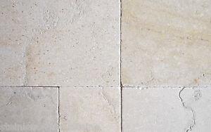 1x muster kalkstein salem mix getrommelt geb rstet 10x10 cm wie jura marmor ebay. Black Bedroom Furniture Sets. Home Design Ideas