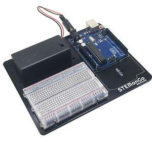Arduino-Board-Holder-Base-Plate-Prototype-Platform-for-UNO-MEGA-R3-Breadboard
