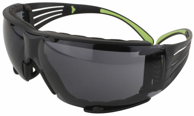 3m 400 Anti Fog Safety Glasses Gray Lens Color Includes Removable Foam Lined