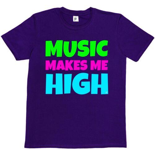 Music Makes Me High Hipsta Funny Geek Sawg Festival Mens T-Shirt