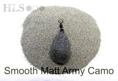 S-Bras Smooth Matt Army Camo plomb//Jig Head revêtement poudre plastique HLS Tackle