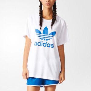 b07b54b1 Image is loading Adidas-AJ8349-Women-Originals-BOYFRIEND-Trefoil-tee-SS-