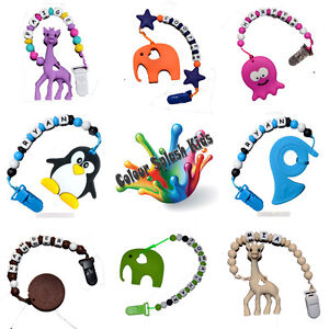 Hand-Made-PERSONALISED-BPA-Free-Silicone-Dummy-Clip-Chain-teether-tether