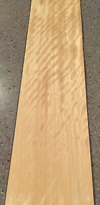 "6.5 Sq Ft 6 Sheets 40"" X 4"" Figured Birch Wood Veneer"
