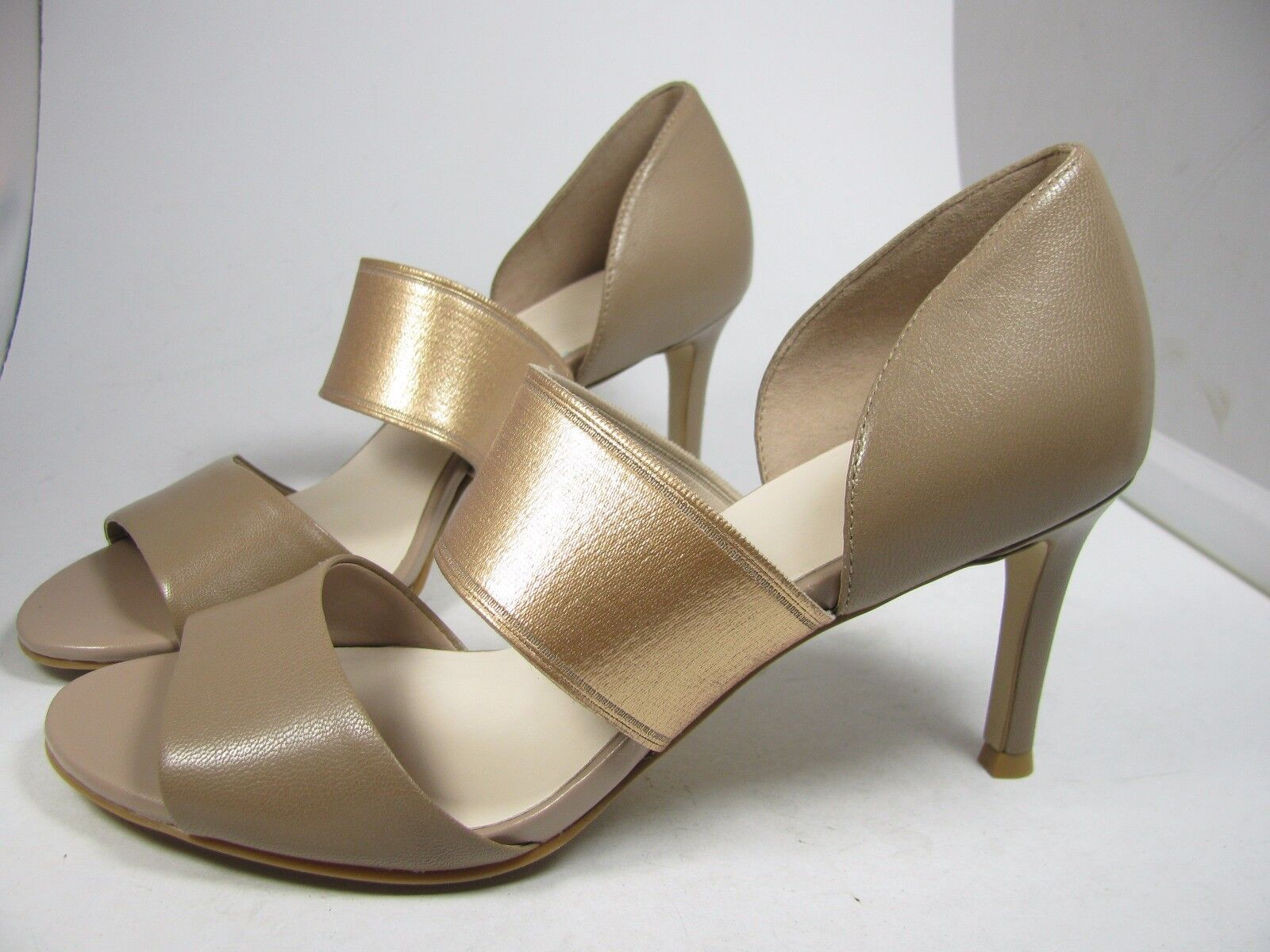 SZ 7.5 NEW NEW NEW COLE HAAN sandals heels damen Belline tan Pump open toe schuhe 3e9f3c
