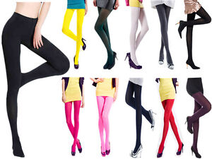 Hot-Women-Ladies-Opaque-Footed-120-Denier-Velvet-Pantyhose-Stocking-Sock-Tights