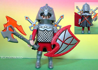 PLAYMOBIL  TWIN SWORDS  KNIGHT   MASTER  **  NEW **  castle  attack