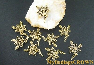 70 pcs Antiqued gold mini fairy charms FC1803