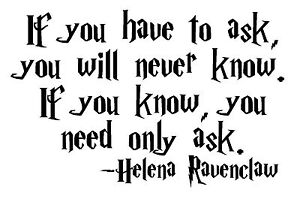 harry potter helena ravenclaw quote gray lady vinyl decal sticker