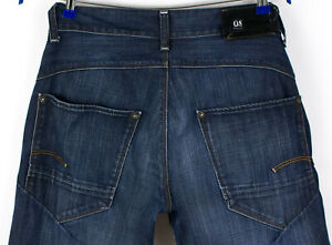 G-Star-Brut-Hommes-Neuf-Ruger-Jeans-Jambe-Droite-Taille-W32-L32-AFZ767