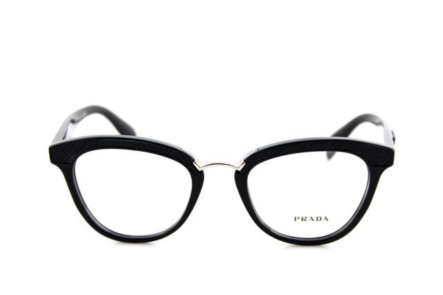 fcfbf9a566 RARE PRADA Ornate Black Cat Eye Eyeglasses Frame PR 26sv 1ab-1o1 VPR for sale  online