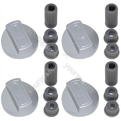 4 X Bosch Universal Cooker//Oven//Grill Control Knob And Adaptors White