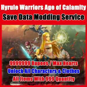 Hyrule Warriors Age Of Calamity Save Data Modding Unlock All Characters Ebay