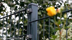 zaun 25m metall höhe 123cm gartenzaun anthrazit doppelstab ... - Gartenzaun Metall Anthrazit