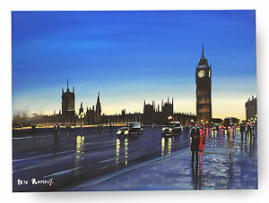 ORIGINAL-FINE-ART-OIL-PAINTING-BY-PETE-RUMNEY-039-PERFECT-LONDON-DREAM-039-BIG-BEN