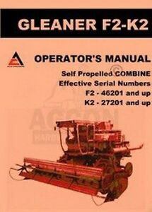 Media Allis Chalmers Gleaner Combines Booklets Manuals Reputation First