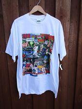 Vintage 1990's Decade Pop Culture T-Shirt White AOL Simpsons Beanie Babie XL NWT