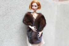 "27/"" Jet Black Fox Fur Wrap Boa for Sydney Tyler Gene  Sybarite BJD dolls~dimitha"