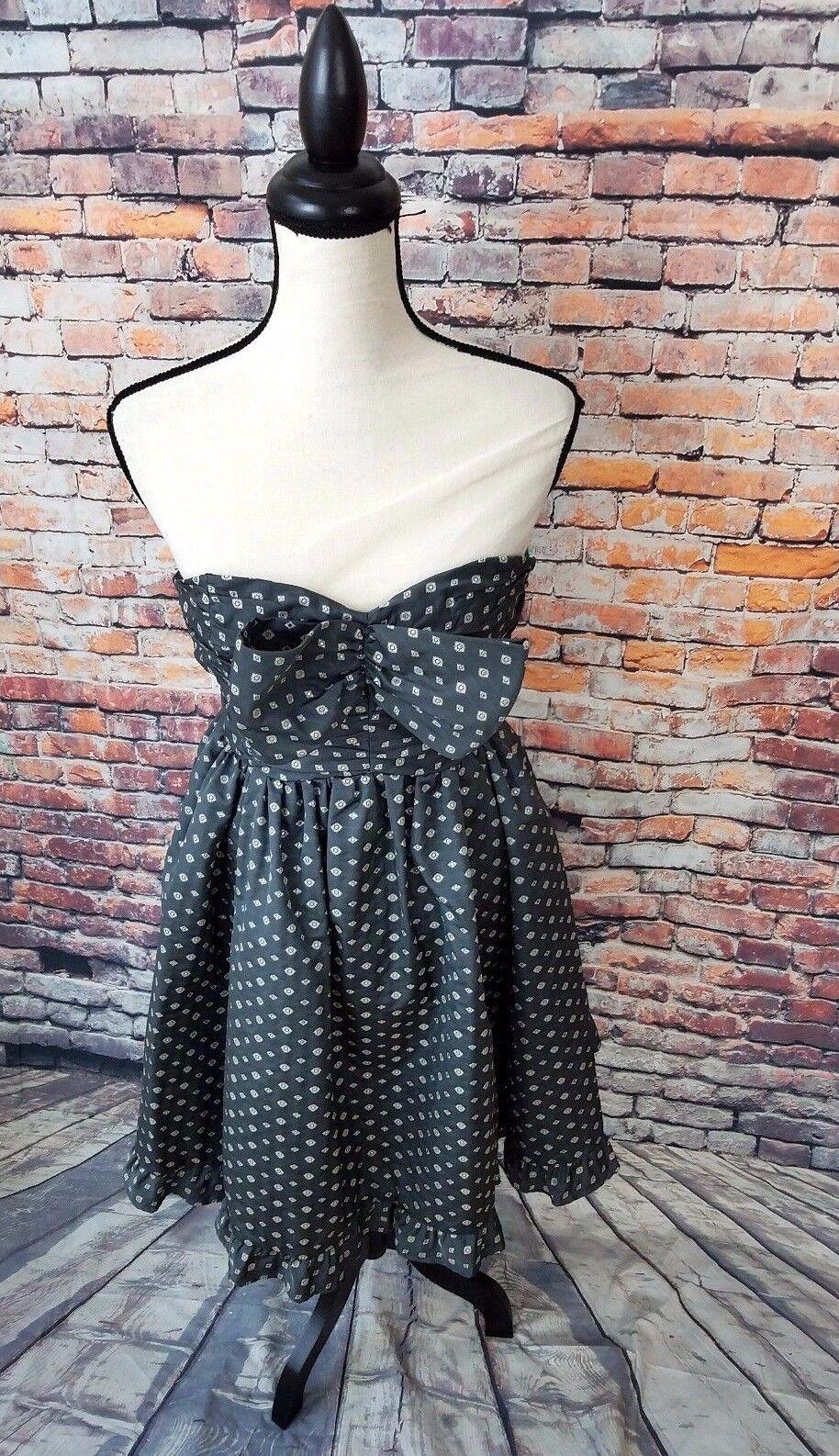 NWT   410 Nanette Lepore Woherren grau Pave Diamond Tea Evening Dress Sz 2 NEW