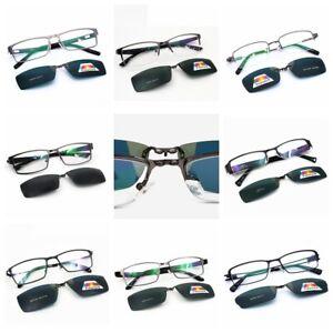 Polarized-Magnetic-Clip-on-Sunglasses-Eyeglass-Frames-Fishing-Glasses-Rx