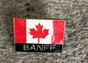 Banff-Alberta-Canada-Flag-Maple-Leaf-Souvenir-PIN