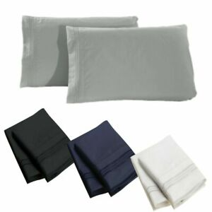 1800-SERIES-PILLOWCASES-2-Pillow-Cases-Per-Set-King-Size-Standard-Size