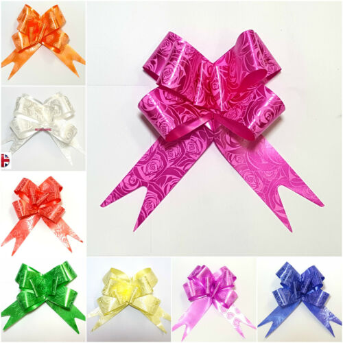 LARGE Ribbon Bows assorted colours easy pull flower ribbon party decoration