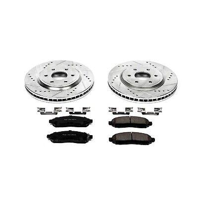 KM037741 Fits: 2011 11 2012 12 Nissan Frontier V6 Models OE Series Rotors + Ceramic Pads Max Brakes Front Supreme Brake Kit