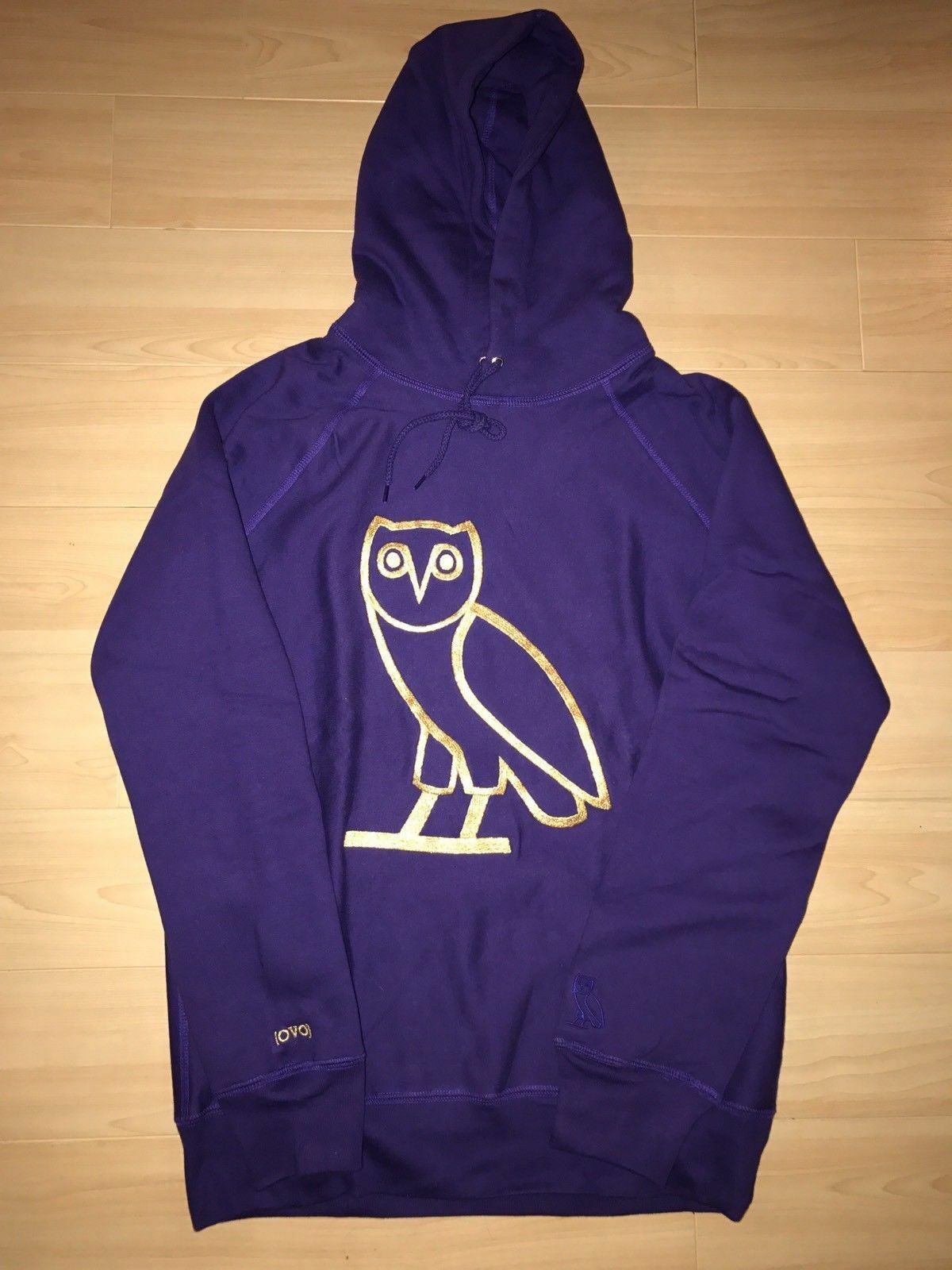 SIZE M - OVO Fest Owl OG gold Embroidered Hoodie Purple 2012 Take Care 1 50 MADE