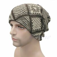 New Mens Ladies Knitted Woolly Winter Oversized Slouch Beanie Cap skateboard Hat