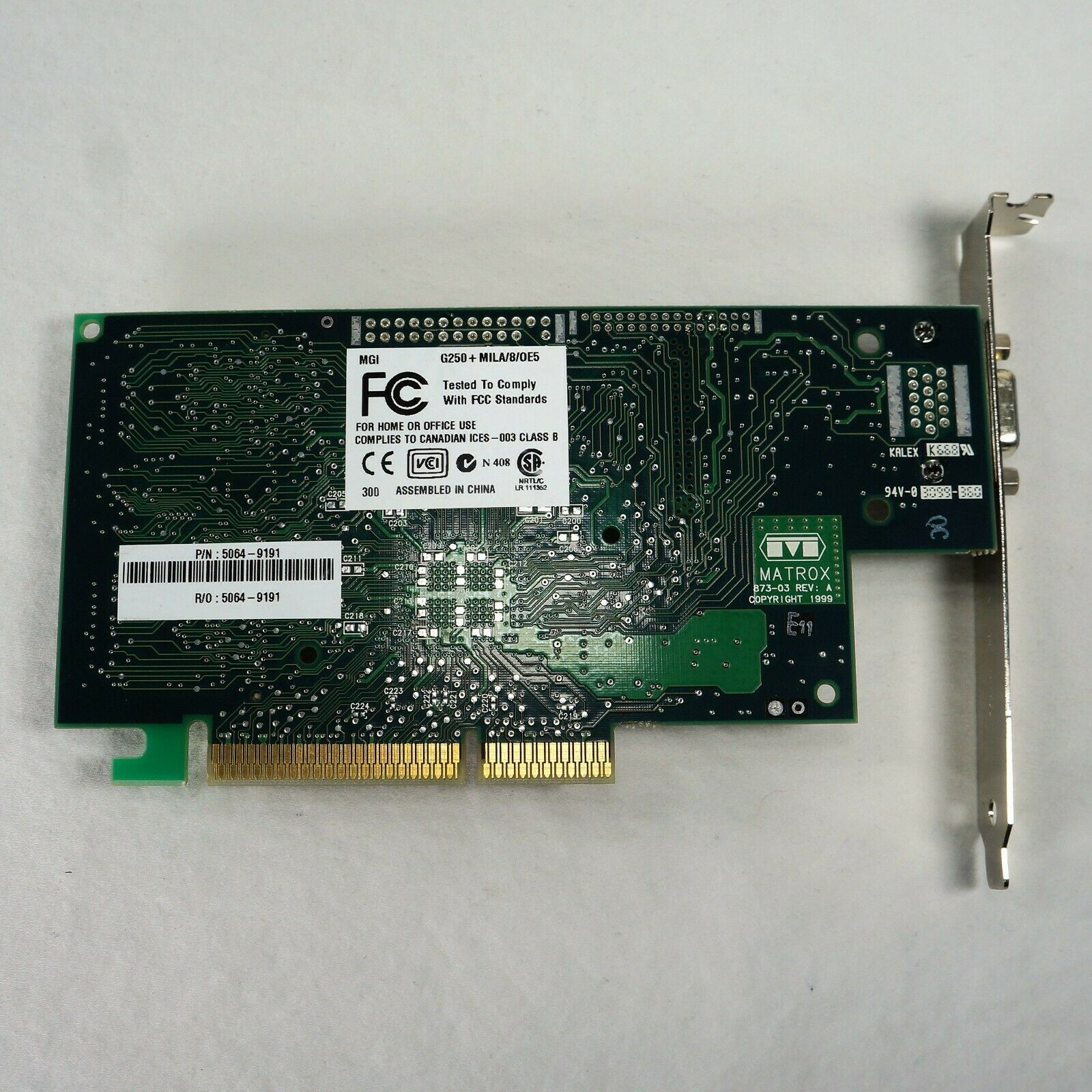 Matrox HP 873-03 5064-9191 AGP VGA Video Card NEW