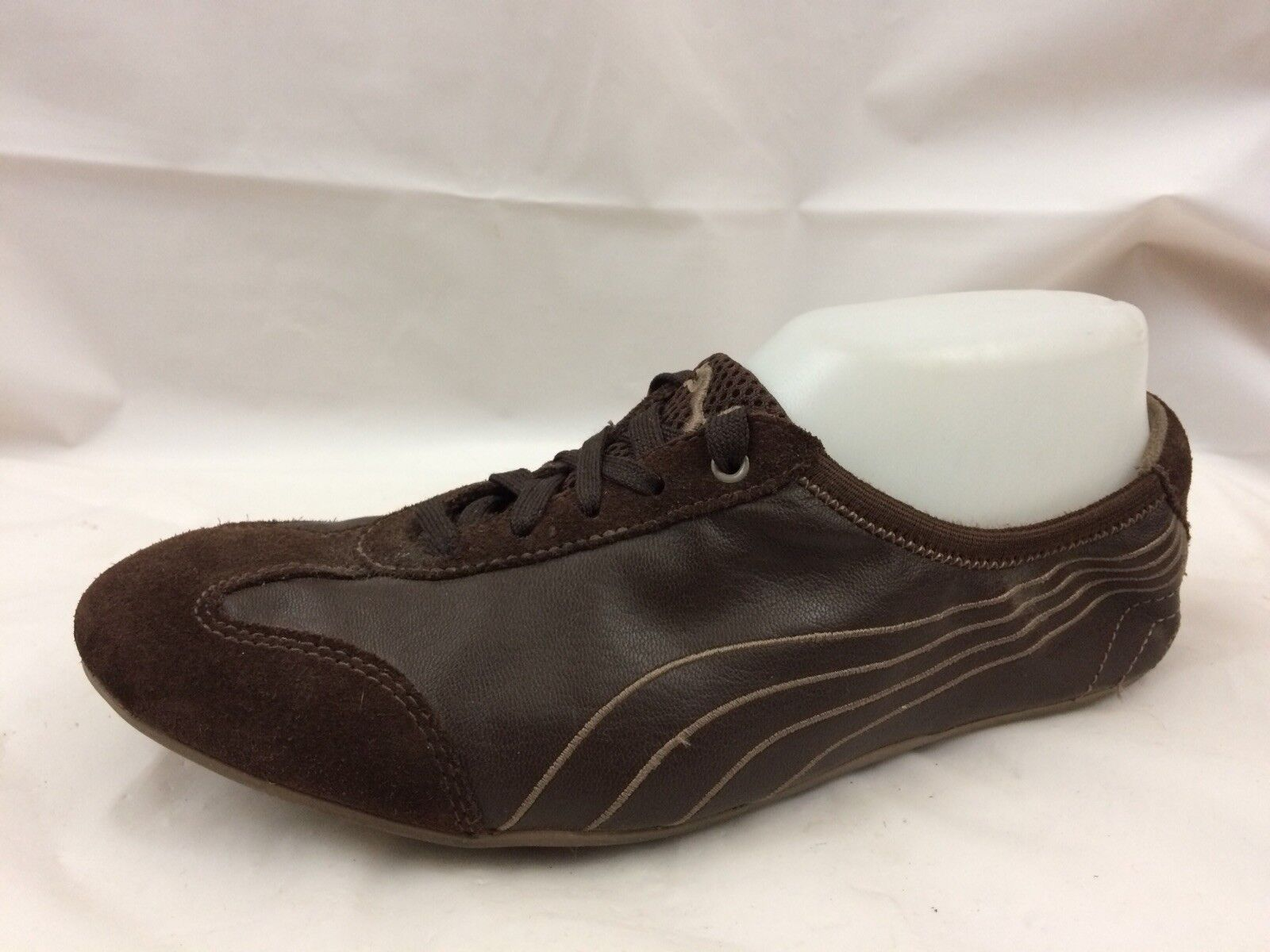 PUMA Womens 8 Med Brown Running shoes Athletic Sneaker Suede Leather 352153 01