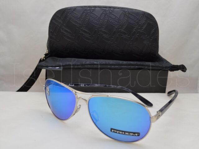26cfcfd4598 Oakley FEEDBACK (OO4079-33 59) Polished Chrome with Prizm Sapphire Polar  Lens