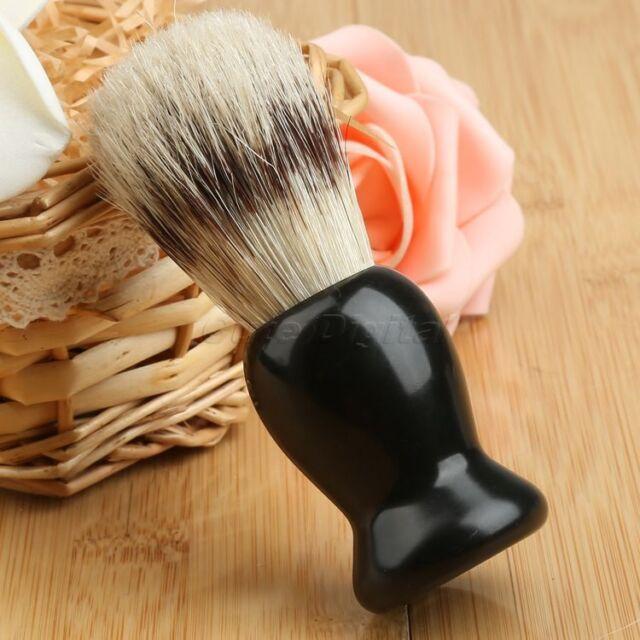100% Pure Badger Silver Tip Face Hair Shaving Brush Barber Tool Mens Gift Black