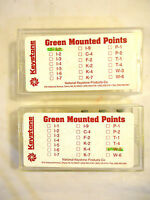 Keystone Silicon Carbide Green Mounted Points, 24 Pieces, New.