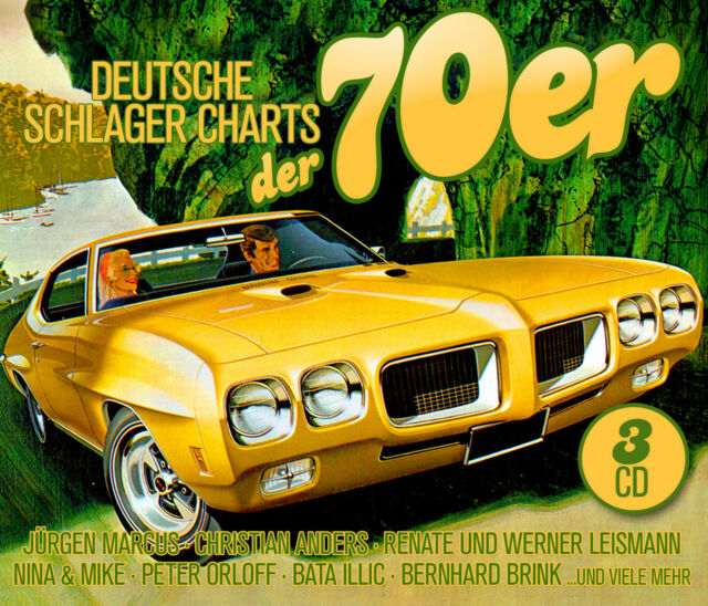 CD Deutsche Schlager Charts the 70er from Various Artists 3cds