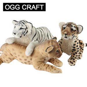 Baby-Brown-White-Tiger-Leopard-Lion-Plush-Soft-Animal-Toys-Stuffed-Kids-Gifts-UK