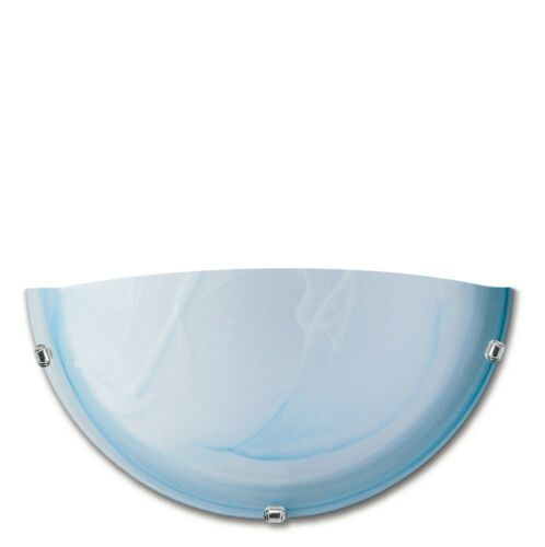 Applique da parete moderno design in metallo e vetro azzurro