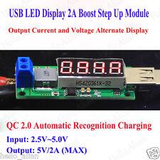 DC-DC Boost Step Up Voltage Converter 3.3V 3.7V 4.2V to 5V 2A LED Voltmeter USB