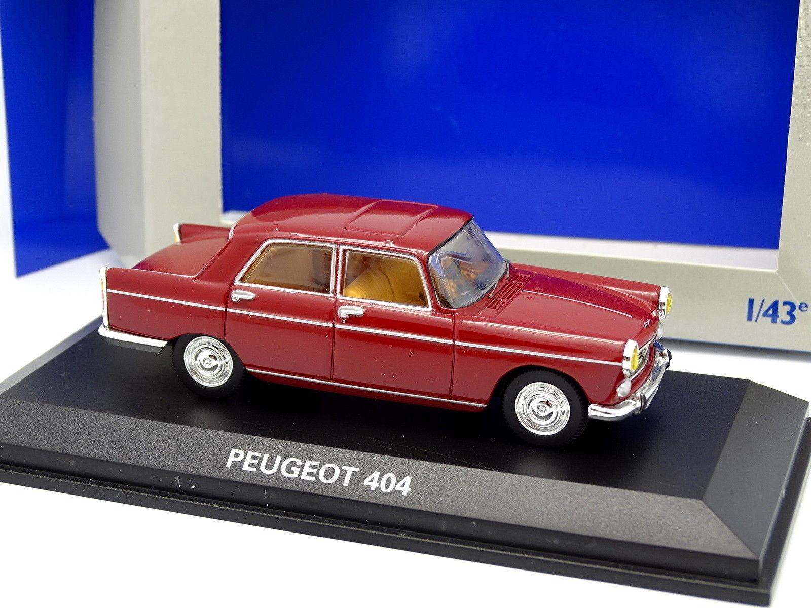 Norev 1 43 - Peugeot 404 Rouge