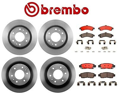 For GMC Envoy 2002-2004 Rear Left /& Right Disc Rotors /& Pad Set Brake KIT Brembo