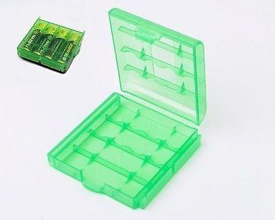 5 Contenitore porta batterie pile AA AAA custodia box portapile portabatterie
