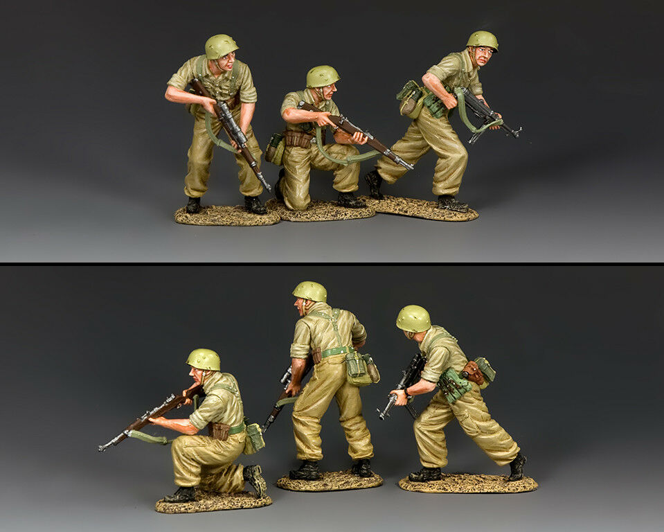 """KING KING AND COUNTRY WW2 German """"Attack """" (3 x figure Set) AK119"""