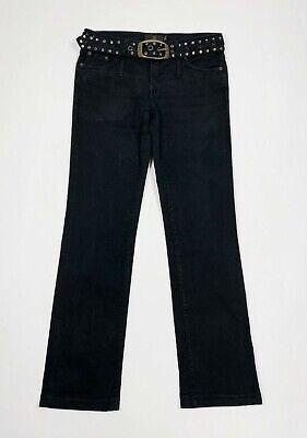 Liu Jo Jeans Donna Usato W29 Tg 43 Cintura Gamba Dritta Slim Denim Nero T5536 Giada Bianca