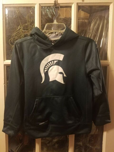 Nike Michigan State Spartans Youth Therma Fit Hoodie Ebay