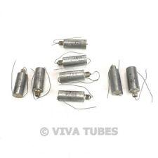 Vintage Lot Of 8 Screw In Paper In Oil Capacitors 01 Uf 400 Vdc