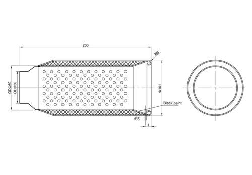 Exhaust tip round tailpipe trim for Mazda Mini BMW Audi Hyundai Hanomag Ford