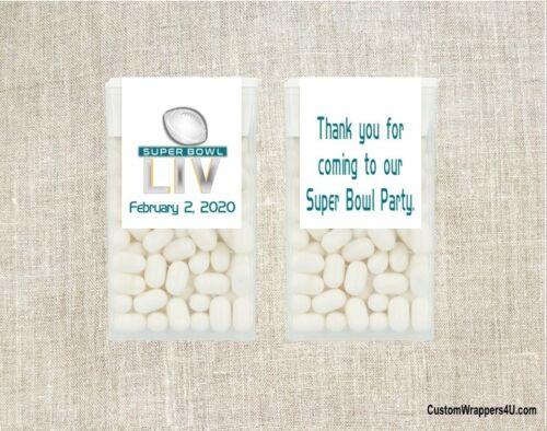Football Superbowl Super Bowl Mint Mints Party Favors Labels