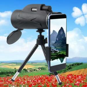 80X100-Zoom-HD-Lens-BAK4-Prism-Hiking-Monocular-Telescope-Phone-Clip-Tripod
